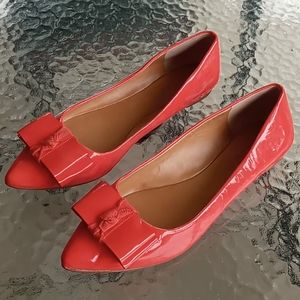 J.Crew Patent Leather Pointed Toe Ballet Flats